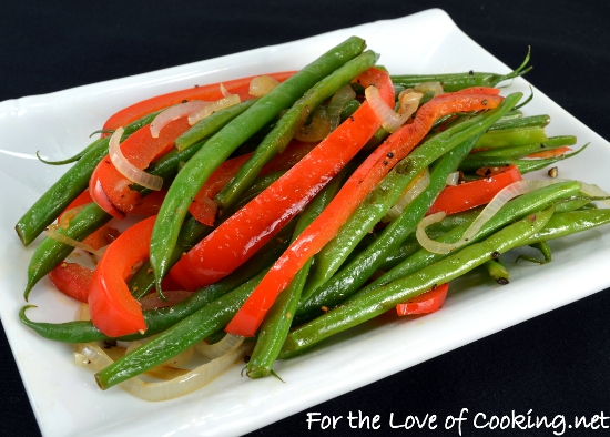 Green Bean, Red Pepper, and Shallot Sauté