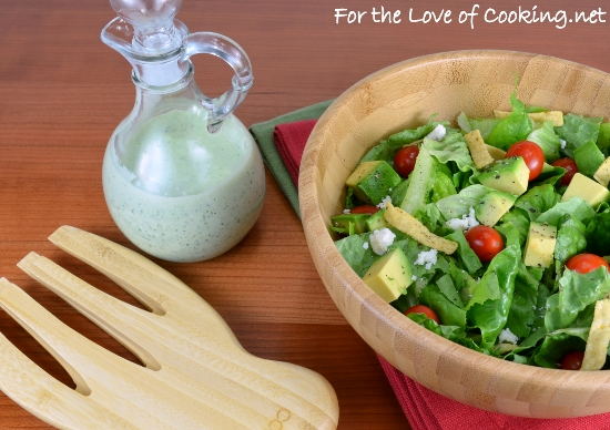 Creamy Cilantro Dressing | For the Love of Cooking
