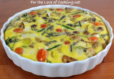 Roasted Vegetable and Swiss Cheese Baked Frittata