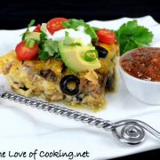 Shredded Beef Chile Relleno Casserole