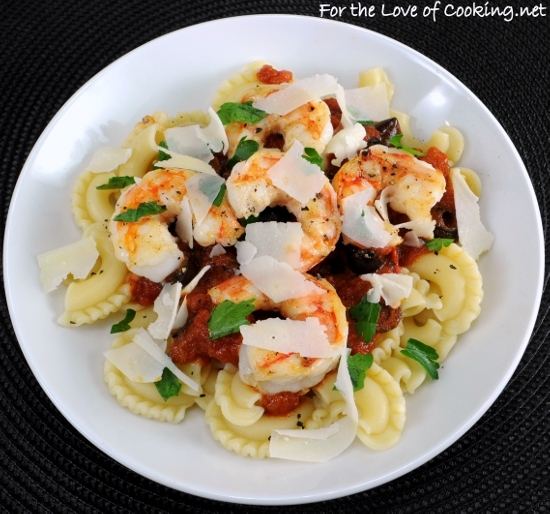 Garlic Basil Shrimp With Penne In A Spicy Basil Marinara Recipes ...