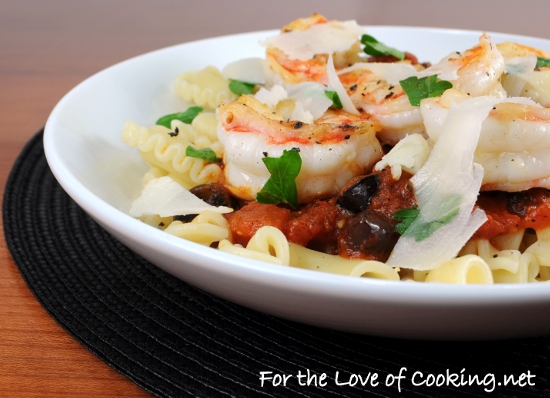 Garlic Basil Shrimp With Penne In A Spicy Basil Marinara Recipe ...