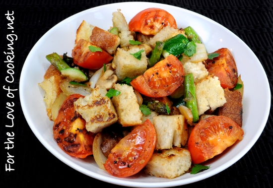 Grilled Vegetable Panzanella | For the Love of Cooking