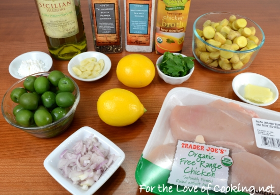 Meyer Lemon Chicken with Baby Potatoes and Castelvetrano Olives | For ...
