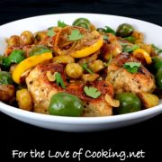 Meyer Lemon Chicken with Baby Potatoes and Castelvetrano Olives