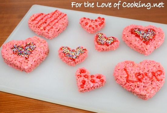 ♥ Valentines Day Rice Krispie Treats ♥