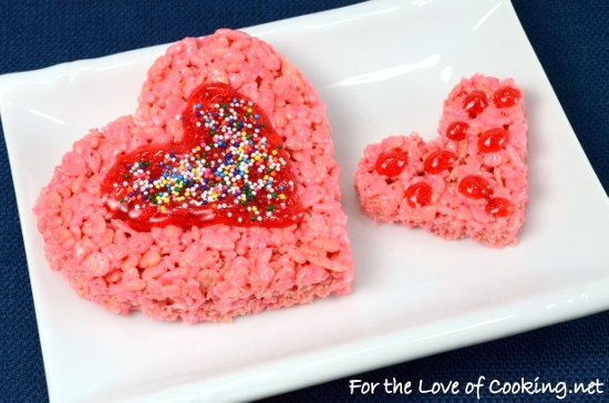 ♥ Valentines Day Rice Krispie Treats ♥ | For the Love of Cooking