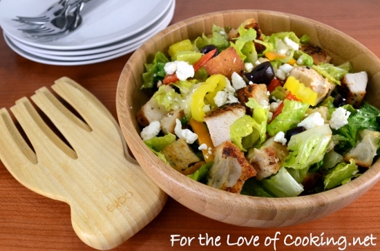 Greek Chicken Salad With Homemade Croutons For The Love Of Cooking