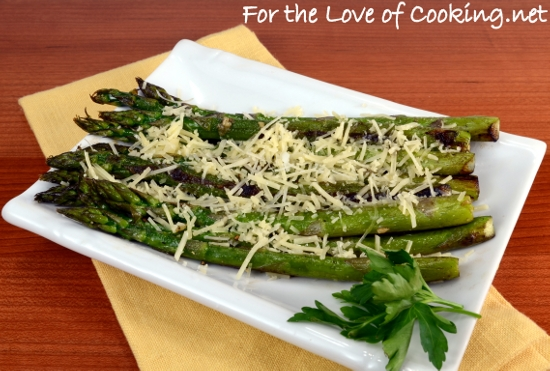 Pan Roasted Asparagus with Garlic and Parmesan | For the Love of ...