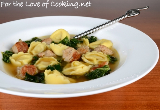 Cheese Tortellini Soup with Turkey Italian Sausage and Kale | For the ...