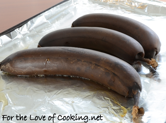 Roasted Banana Muffins