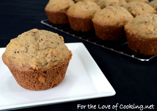 Roasted Banana Muffins | For the Love of Cooking