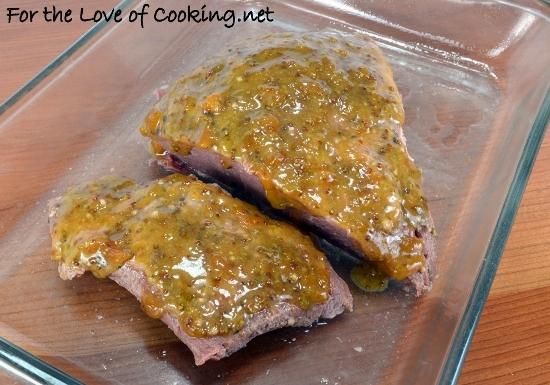 Apricot-Mustard Glazed Corned Beef