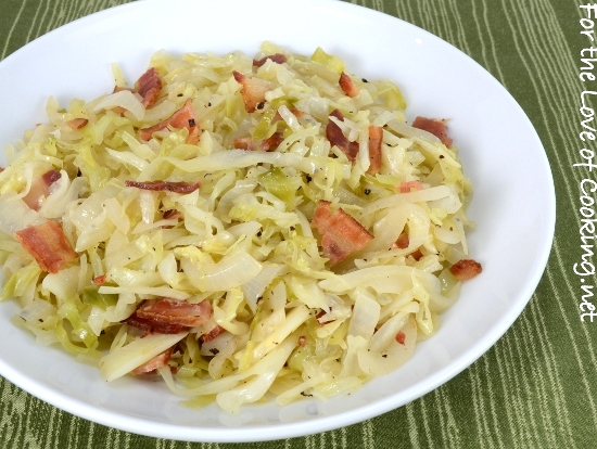 Tangy Sautéed Cabbage and Onions with Bacon