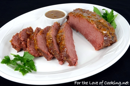 Apricot-Mustard Glazed Corned Beef | For the Love of Cooking