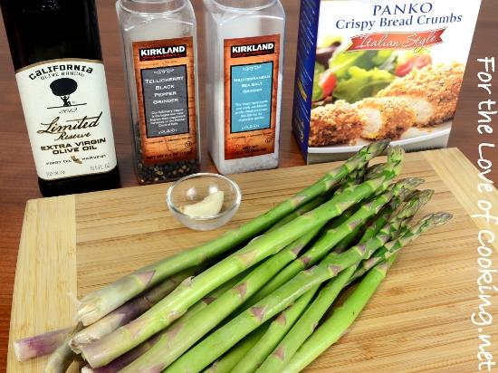Roasted Asparagus with Garlicky Italian Panko