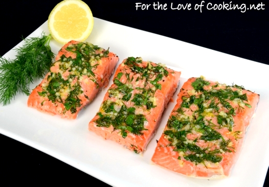 Slow Roasted Salmon with Garlic, Dill, Parsley,Tarragon ...