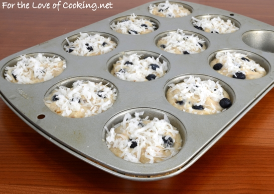 Toasted Coconut and Blueberry Muffins