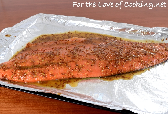 Maple-Mustard Baked Salmon | For the Love of Cooking