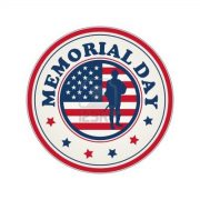 13654934-memorial-day-stamp-with-flag-of-usa-and-soldier-silhouette-over-white-background
