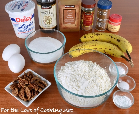 Banana and Candy Pecan Cake