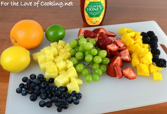 Fruit Salad with Honey-Citrus Dressing