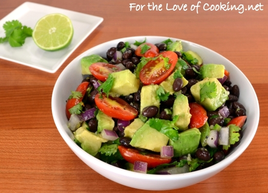 Black Bean Salad with Avocado, Tomatoes, Red Onion, and ...