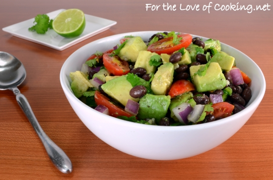 Creamy Black Bean, Red Pepper And Corn Salad With Avocado And Cilantro ...