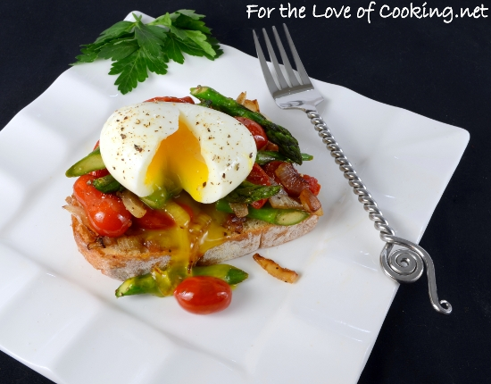 Soft Boiled Egg over Vegetable Sauté and Toast | For the Love of ...