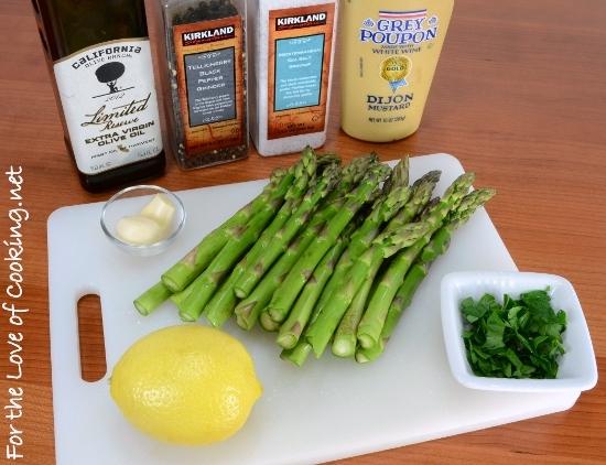 Roasted Asparagus with Dijon-Lemon Sauce