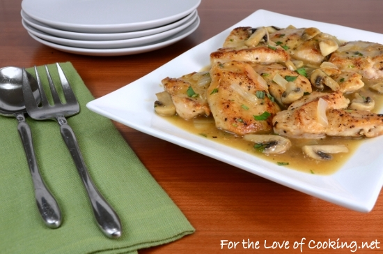 Chicken Cutlets with Tarragon-Mushroom Sauce