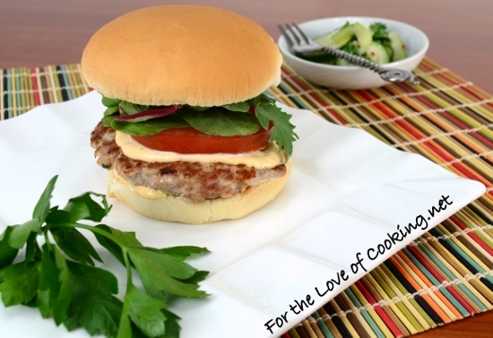 Asian Turkey Burgers with Avocado and Sriracha Lime Mayonnaise