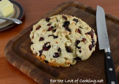 Pan de Campo with Dried Cherries, Blueberries, and White Chocolate Chips