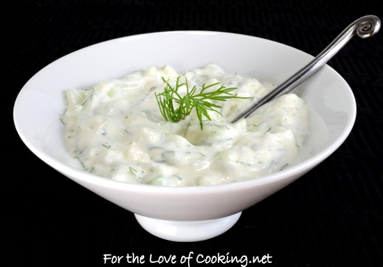 creamy cucumber dill sauce for the love of cooking. Black Bedroom Furniture Sets. Home Design Ideas