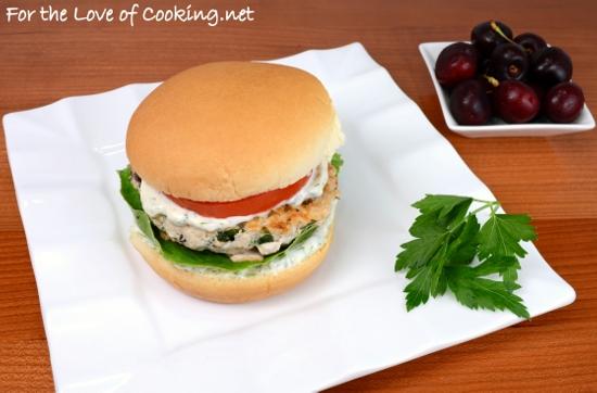 Greek Turkey Burgers with a Dill Garlic Mayonnaise