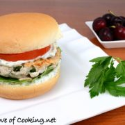 Greek Turkey Burgers with a Dill Garlic Mayonnaise