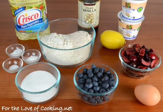 Cherry and Blueberry Muffins