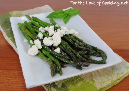 Asparagus with Lemon and Feta Cheese