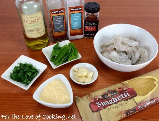 Fresh Herb and Garlic Pasta with Shrimp