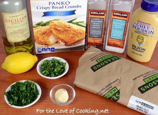 Dijon and Herb Panko-Crusted Halibut