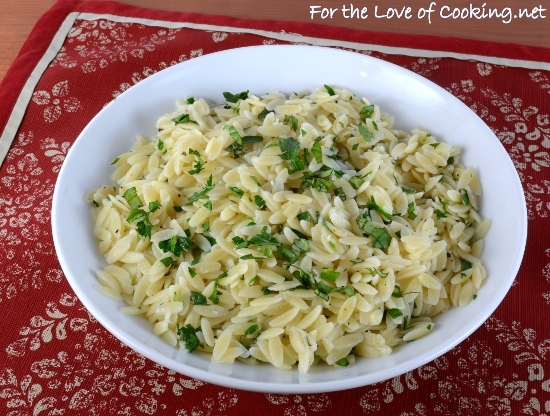 Garlic and Fresh Herb Orzo