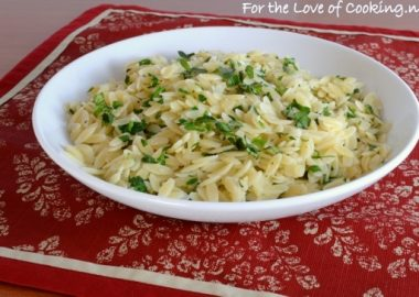 Garlic and Fresh Herb Orzo