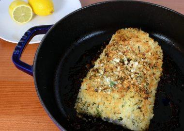 Dijon and Herb Panko-Crusted Halibut