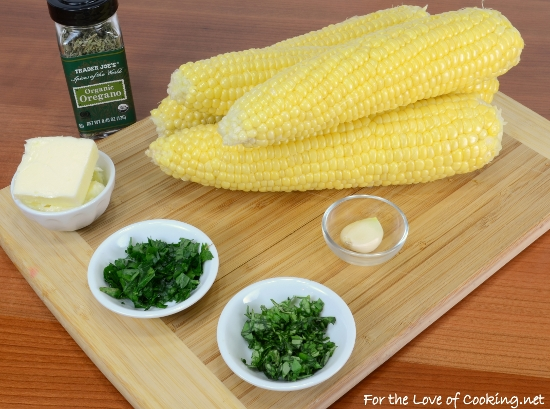 Grilled Corn with Herb and Garlic Butter