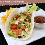 Shrimp Soft Tacos with Creamy Adobo Sauce