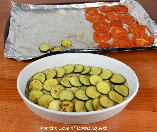 Roasted Zucchini, Tomato, and Rice Gratin
