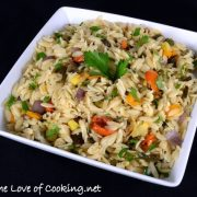 Garlicky Orzo with Roasted Vegetables