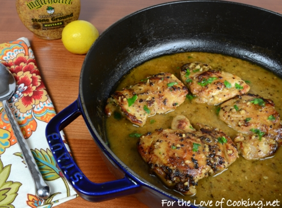 Lemon And Mustard Chicken Thighs For The Love Of Cooking