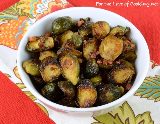 Roasted Brussels Sprouts with Pancetta and Balsamic Vinegar