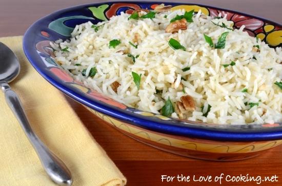 Brown Butter and Pecan Basmati Rice